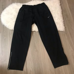 Nike Dri Fit Black Zipper Bottom Detail Sweatpants